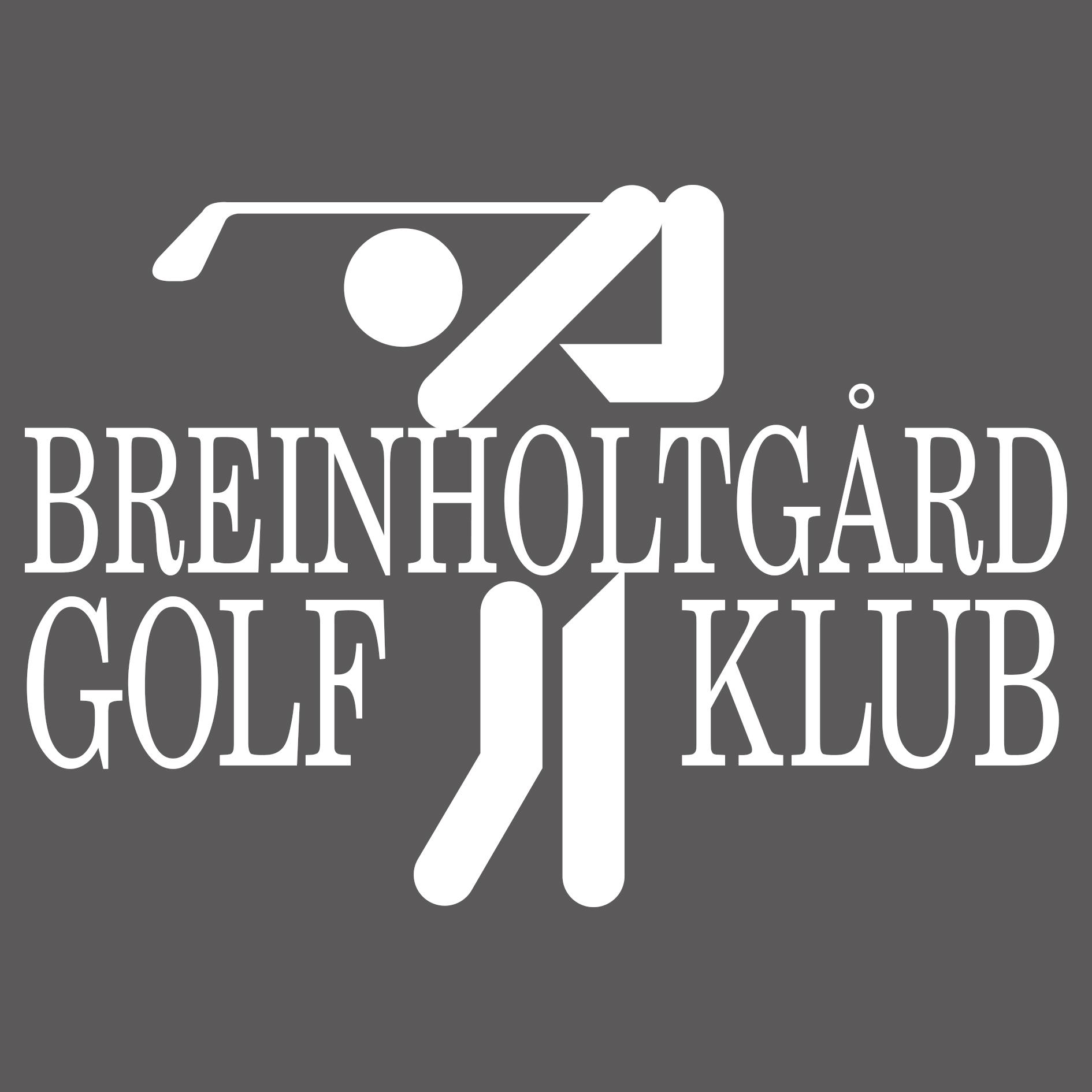 Logo Lille Golfspiller Graa Hvid Breinholtgaard Golf Klub Golfklub Esbjerg